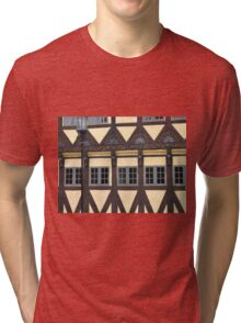 Traditional decorated house in Denmark Tri-blend T-Shirt
