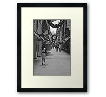 Mono Christmas in Perth, W.A. Framed Print
