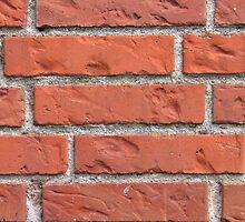 Wall of red bricks by Ron Zmiri