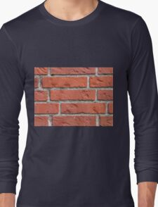 Wall of red bricks Long Sleeve T-Shirt