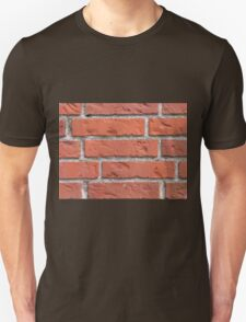 Wall of red bricks Unisex T-Shirt