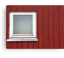 Architecture abstract - wall and window Canvas Print