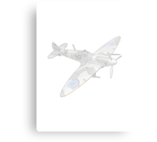 1936 WWII Spitfire Fighter Airplane Metal Print