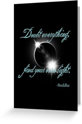 Buddha Quote - Find Your Own Light by surgedesigns