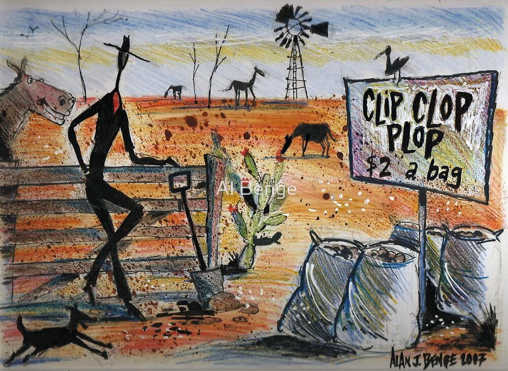 Clip clop plop by Al Benge