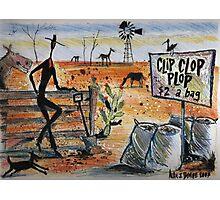 Clip clop plop Photographic Print