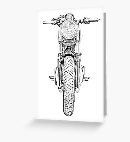 Motorcycle Front Greeting Card