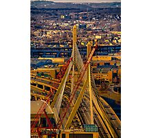 Leonard P. Zakim Bunker Hill Memorial Bridge Photographic Print