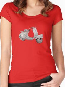 1949 Piaggio Vespa scooter Women's Fitted Scoop T-Shirt