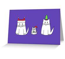 We Three Christmas Cats Greeting Card