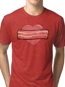 I love bacon. Tri-blend T-Shirt