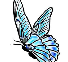 Blue Butterfly by Penny Ward Marcus