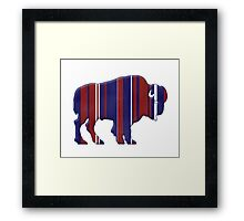 American Bison - Buffalo silhouette Framed Print