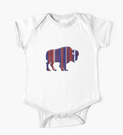 American Bison - Buffalo silhouette One Piece - Short Sleeve