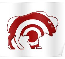 Bulls-eye Target Buffalo Silhouette Poster