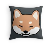 Shiba Inu Blinking Throw Pillow