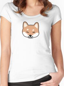 Shiba Inu Blinking Women's Fitted Scoop T-Shirt