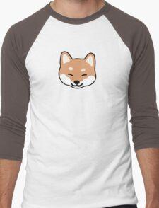 Shiba Inu Blinking Men's Baseball ¾ T-Shirt