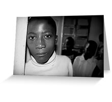 'Orphan' Mamaan Jeanne's orphanage, Democratic Republic of Congo Greeting Card