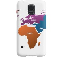 World Map Samsung Galaxy Case/Skin