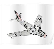 Canadian Sabre Mk VI Jet Aircraft Poster
