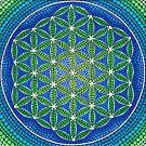 Flower of Life- Ocean Colours by Elspeth McLean