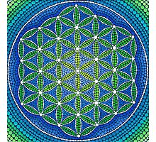 Flower of Life- Ocean Colours Photographic Print