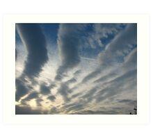 stripy sky Art Print