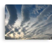 stripy sky Canvas Print
