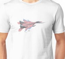 Russian MiG jet fighter aircraft Unisex T-Shirt