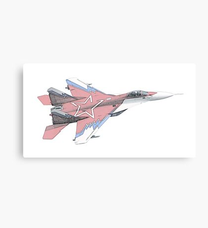 Russian MiG jet fighter aircraft Canvas Print