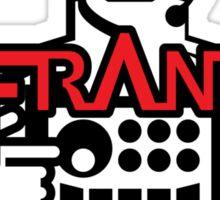 VJ FRANZ K Character Logotype Sticker