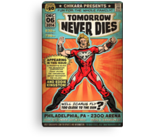 CHIKARA's Tomorrow Never Dies - Official Wrestling Poster Canvas Print