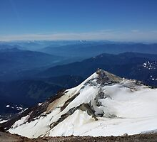 Summit of Baker - View of Rainier and Glacier Peaks by bnmchone