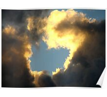 sun always behind the clouds Poster