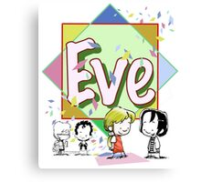 Cartoon girl Eve Canvas Print