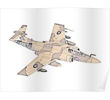 Blackburn Buccaneer aircraft Poster