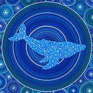 Cetus (whale) Constellation Mandala by Elspeth McLean