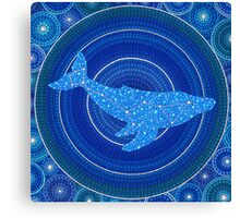 Cetus (whale) Constellation Mandala Canvas Print