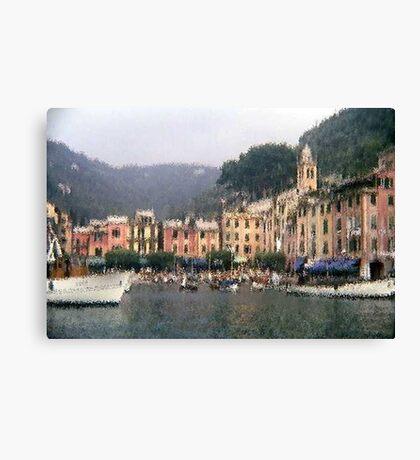 Portofino - impressionism Canvas Print