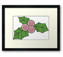 Christmas Holly! Framed Print