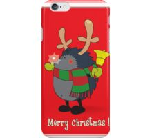 Rudolph the Red Nosed Hedgehog wishes You a Merry Christmas! iPhone Case/Skin