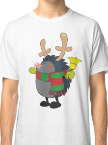 Rudolph the Red Nosed Hedgehog wishes You a Merry Christmas! Classic T-Shirt