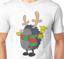 Rudolph the Red Nosed Hedgehog wishes You a Merry Christmas! Unisex T-Shirt