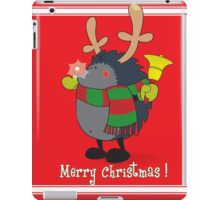 Rudolph the Red Nosed Hedgehog wishes You a Merry Christmas! iPad Case/Skin
