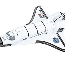 NASA Space Shuttle by surgedesigns