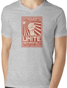 Introverts Unite Separately In Your Own Homes Mens V-Neck T-Shirt