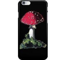 antique typographic vintage mushroom toadstool iPhone Case/Skin