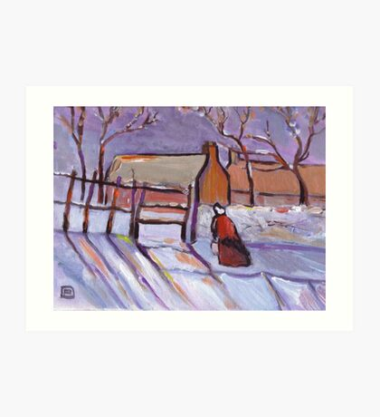 Winter (from my original acrylic painting) Art Print