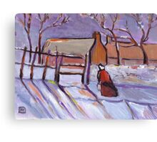 Winter (from my original acrylic painting) Canvas Print